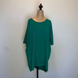 Lularoe Irma solid green Short-sleeved tee #3439